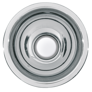 Round inset vanity basin