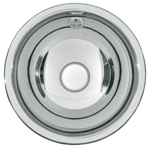 Round inset vanity basin 260mm