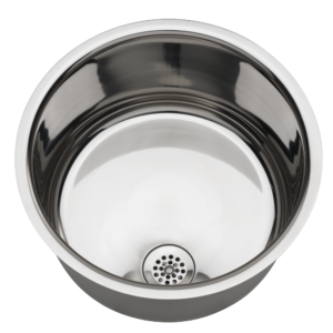 Highly polished inset wash basin