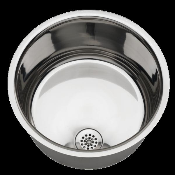 Highly polished inset wash basin