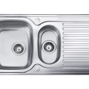 1.5 bowl inset kitchen sink