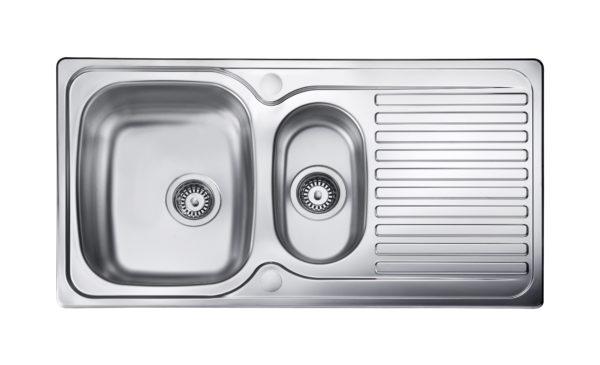 1.5 bowl inset kitchen sink
