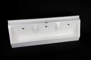 Sanquip 3 user GRP wall hung waterless urinal