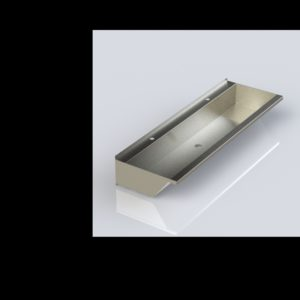 Stainless steel hand wash trough 1800mm