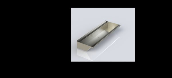 Stainless steel hand wash trough 2400mm