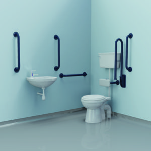 Universal Doc M grab rail pack low level WC