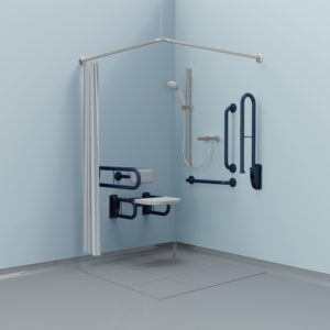 Doc M shower grab rail and seat pack