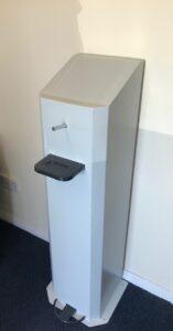 Foot operated hand sanitiser dispenser