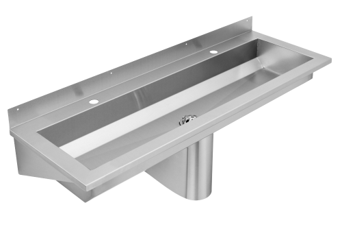 stainless steel wash trough sink