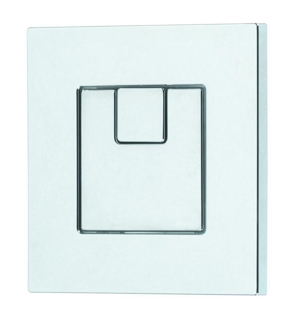 Dudley Piazza 73.5mm Square Dual Flush Push Button
